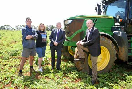 Sweet potato farmers James and Hayley Paddon are joined by Federal Labor MP Anthony Albanese and State Labor candidate for Tweed, Craig Elliot, to discuss their opposition to the new Tweed hospital site at Cudgen.