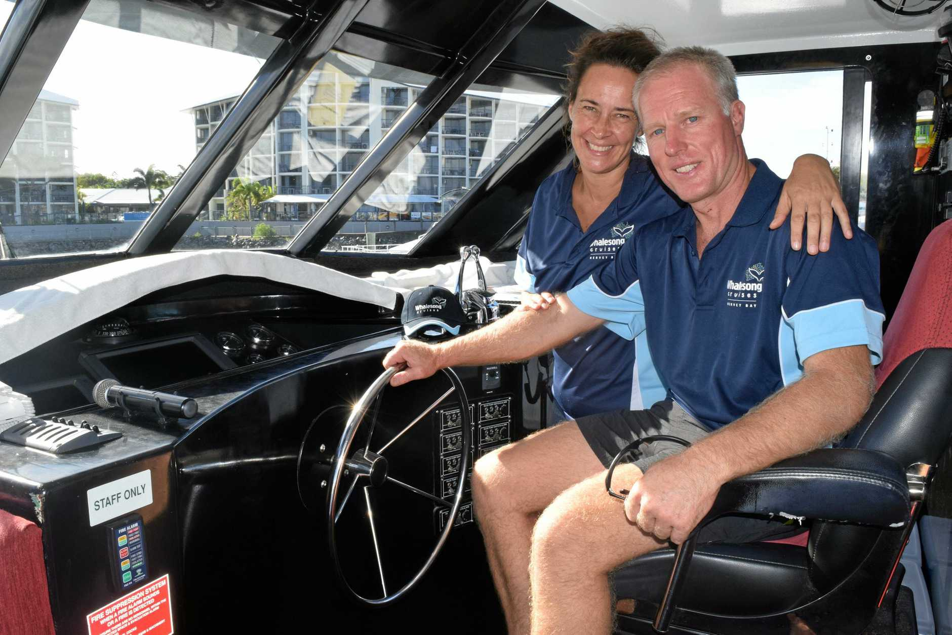 FINALISTS: Whalesong's Rebecca and Doug Greenshield have been named as finalists for marine-based tourism in the 2018 Fraser Coast Business and Tourism Awards.