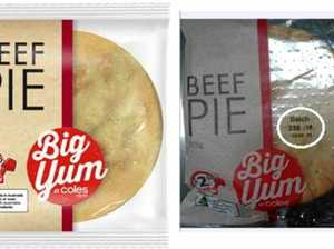 NOT SO YUM: Coles issue pie recall