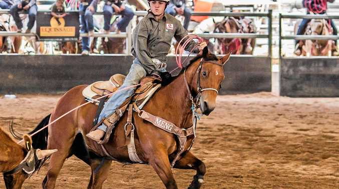 WINNER: Clay Caban came back to the Short Round Final of the number ten Team Roping in first place with partner Cameron Milner and second place with Kobe Milner.