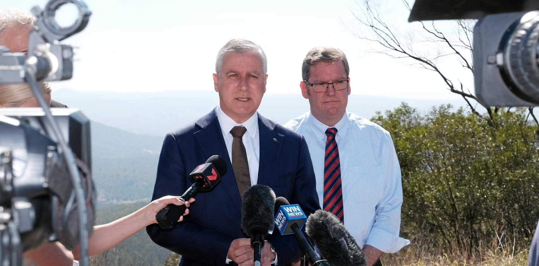 Deputy Prime Minister Michael McCormack and Groom MP Dr John McVeigh.