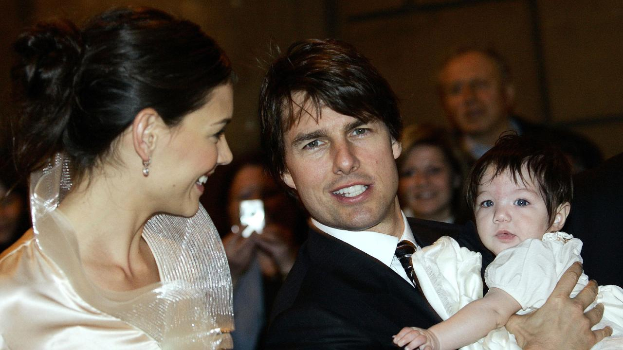 Katie Holmes and Tom Cruise with Suri at the couple's 2006 wedding
