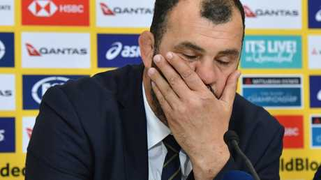 Michael Cheika will front the Rugby Australia board on Friday.