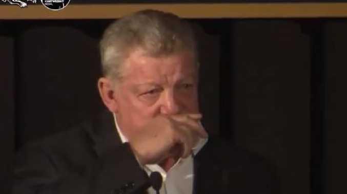 Phil Gould broke down in tears.