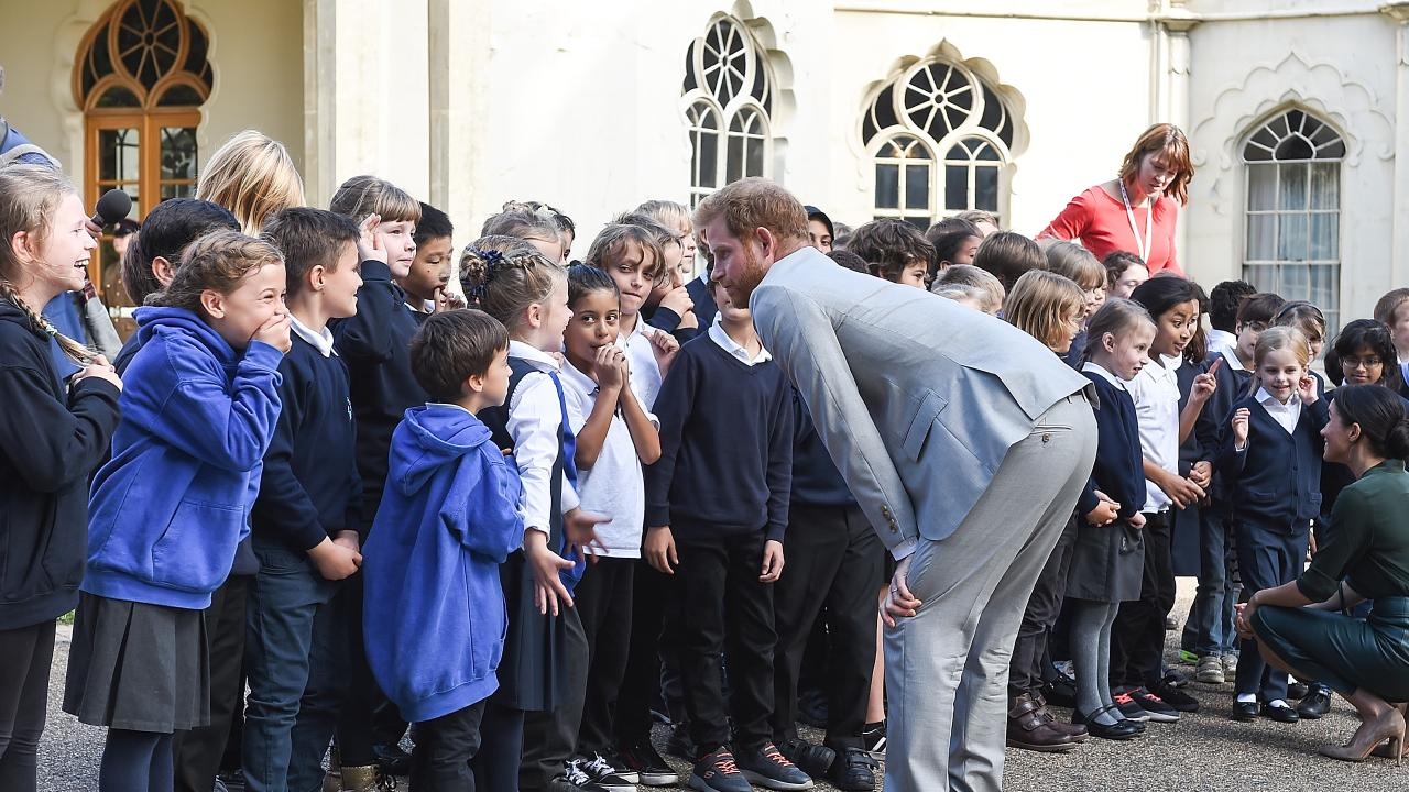 Prince Harry had some serious words for the students. Photo: Tabatha Fireman/Getty Images