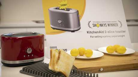 'For failing miserably at its one job — making toast.'