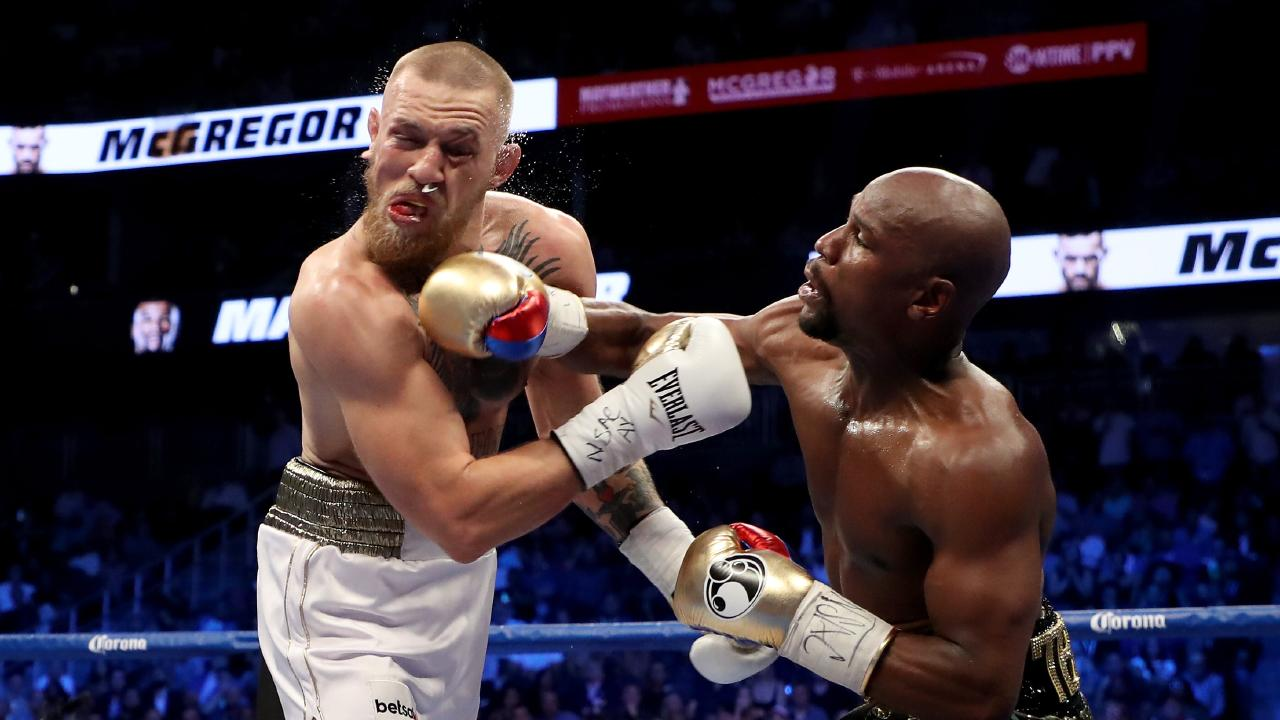 McGregor says this fight isn't quite the payday he pocketed against Floyd Mayweather. Picture: Getty