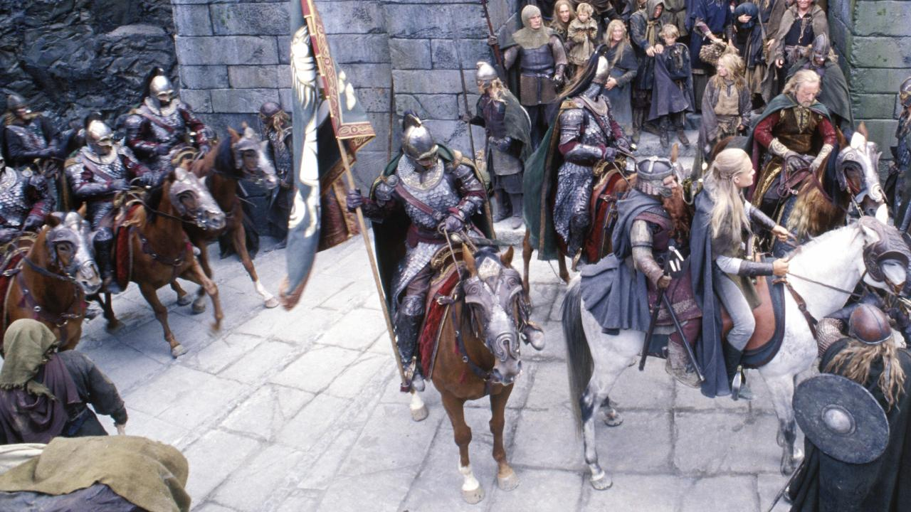 Riders of Rohan in the Lord of the Rings: The Two Towers. Picture: PierreVinet/NewLineCinema