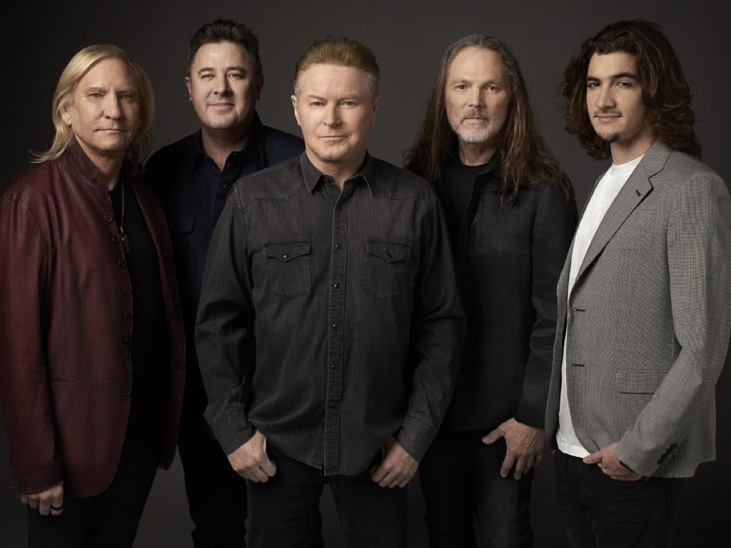 Deacon  Frey, far right,  the son of Glenn Frey, will join the Eagles on their Australian tour.