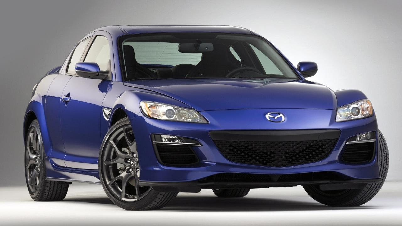 Mazda RX-8: The last production vehicle to use a rotary engine.