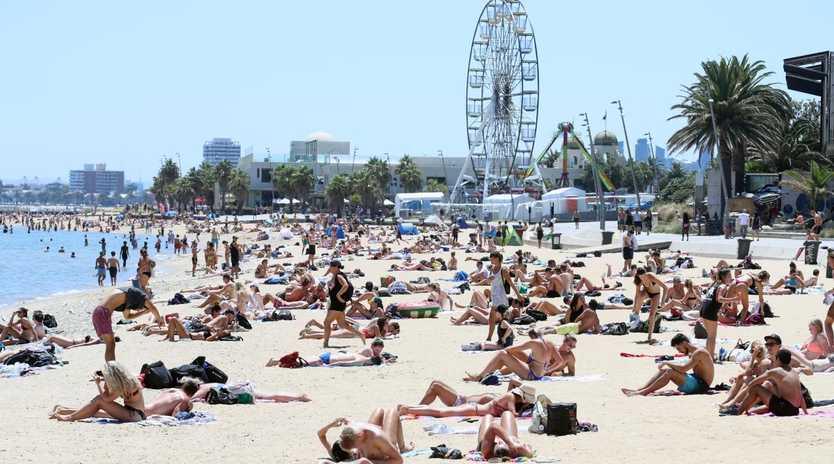 St Kilda beach. Picture: Alex Coppel