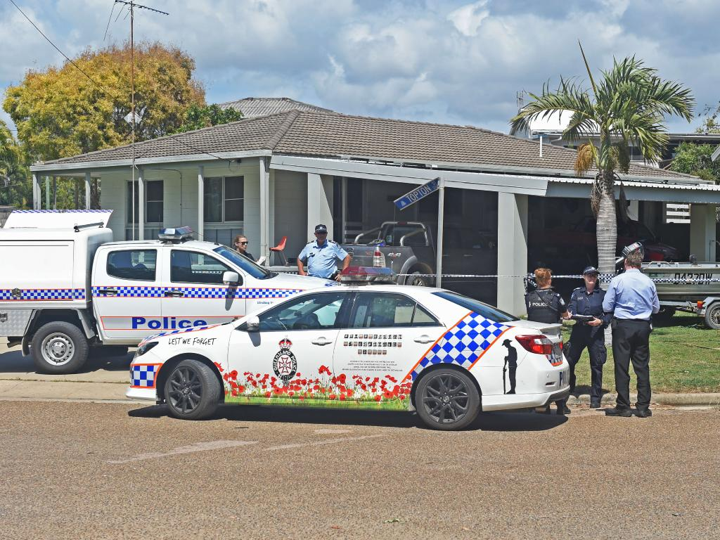 The crime scene at Topton Street, Alva Beach. Picture: Zak Simmonds