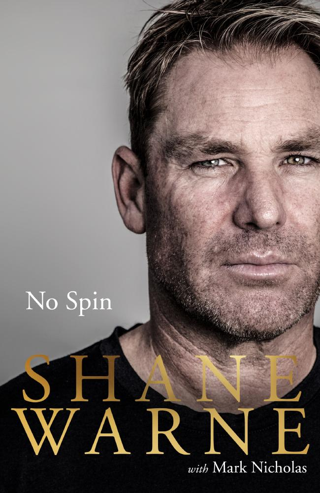 Cover shot of Shane Warne's book No Spin.