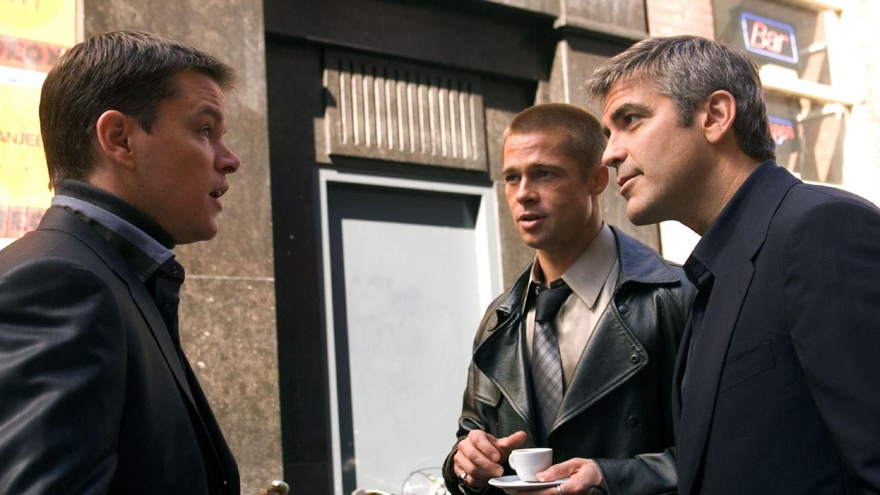 Matt Damon reunited with Brad Pitt and George Clooney in Ocean's Twelve.