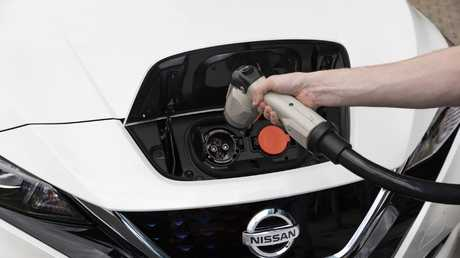 A fast charger can top the Leaf up to 80 per cent in under an hour.