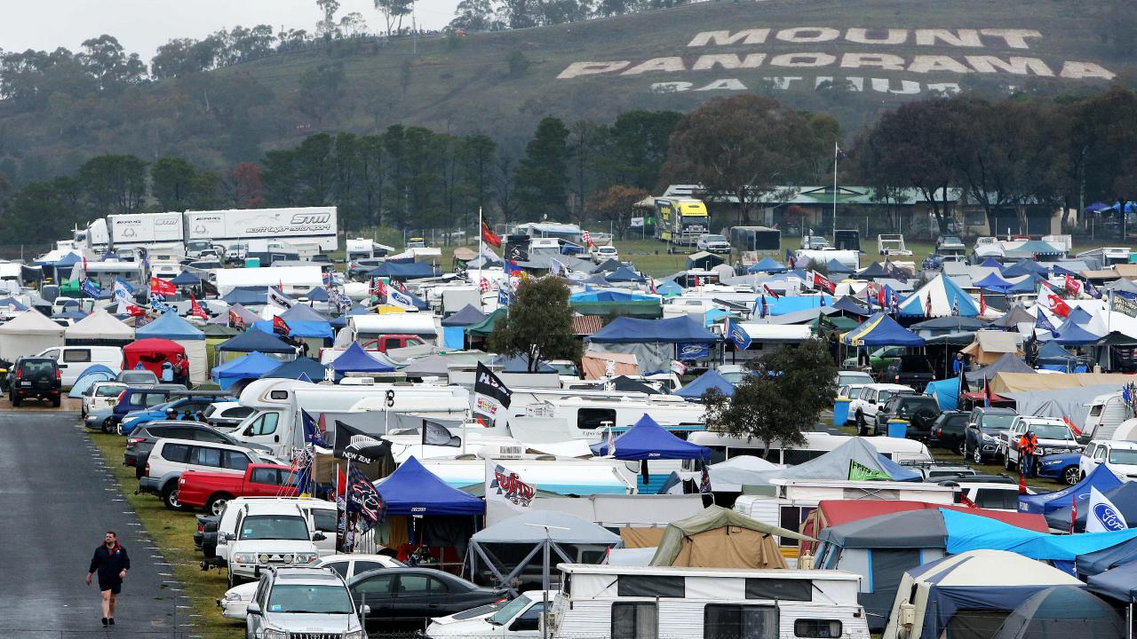 There was rain on track at the Bathurst 1000 today, but farmers in the area say it is no where near enough. Picture: Tim Hunter