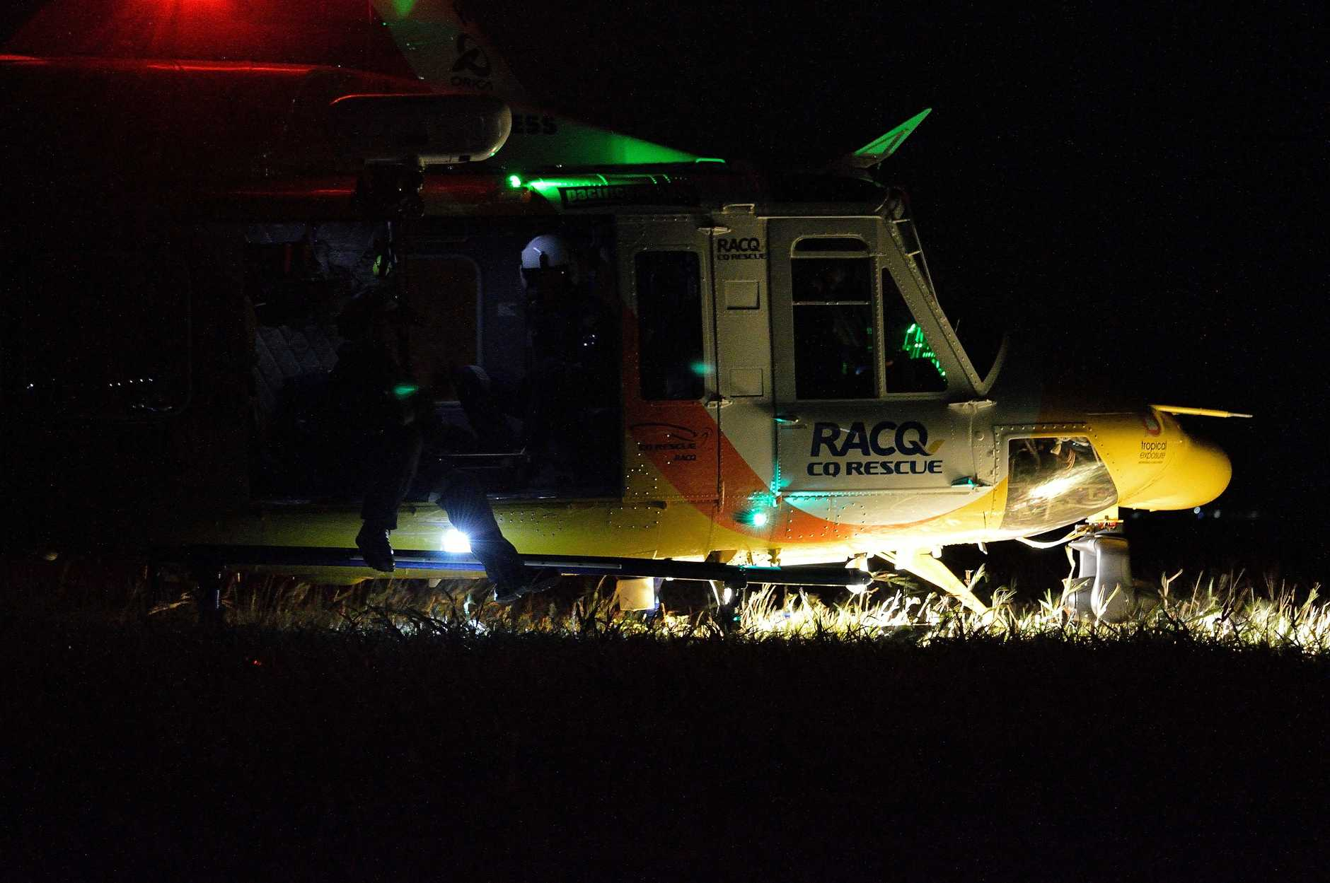 RACQ CQ Rescue helicopter