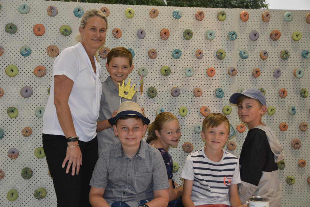 Image for sale: At the Toowoomba Hospital Foundation's Children Appeal are (from left) Alison Kennedy, Brady Cullinan, Riley Sorensen, Paige Cullinan, Eric Kennedy and Owen Kennedy.