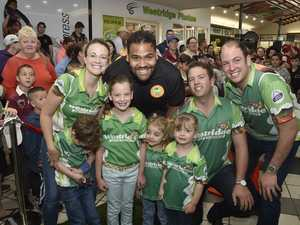 Sam Thaiday treated to rockstar reception in Toowoomba