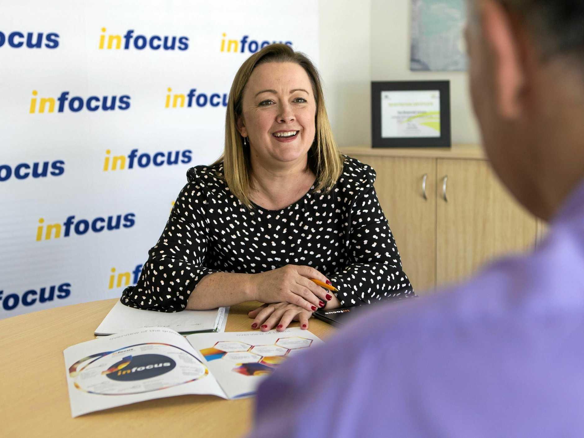 START PLANNING: Erica Jackson, of Infocus, advises a client on retirement.