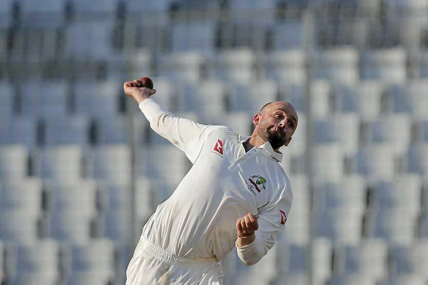 Nathan Lyon has ripped through the Pakistan top order. (AP Photo/ A.M. Ahad)