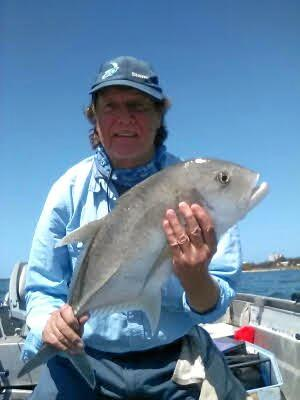 Angler Bill Conn caught this great trevally hear the cod hole, the fish was released unharmed.