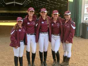 Six students from Warwick wear maroon in Werribee