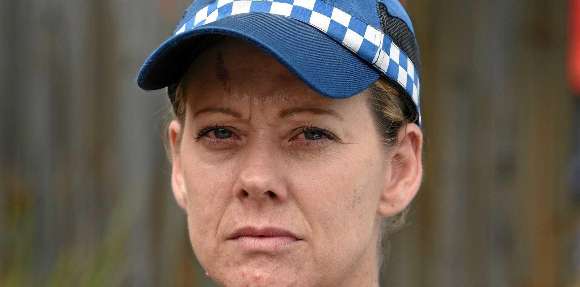 WE CAN HELP: Senior Constable Leigh Nancarrow at Hervey Bay Police Station.