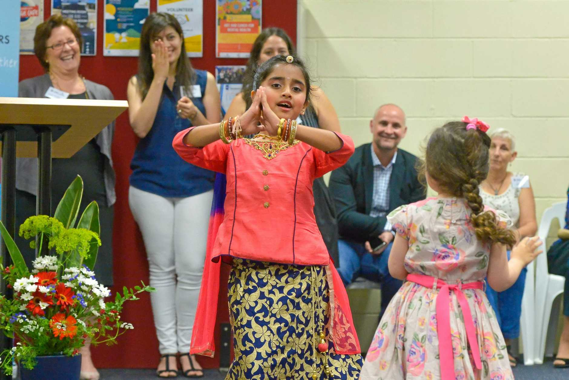 Khyati Mehta dancing.Gladstone Inclusion Centre opening.