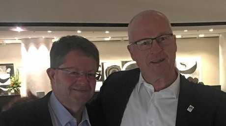Former Sunshine Coast Council chief strategy officer turned chief of staff for the Mayor, Craig Matheson, and Sunshine Coast Mayor Mark Jamieson.