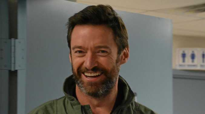 TOP GUN: Hugh Jackman flew in the 457th Fighter Squadron's F-16 Fighting Falcon at Naval Air Station Fort Worth Joint Reserve Base in 2016.