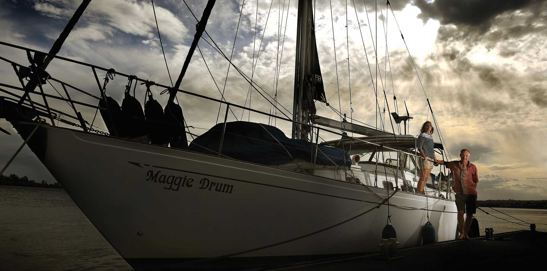 WORLD WAS THEIR OYSTER: Duncan and Caroline Woodhead have returned to Ballina after sailing around the world for more than five years on the Maggie Drum.