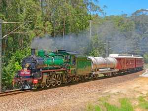 Steam train on track for Yandina trip