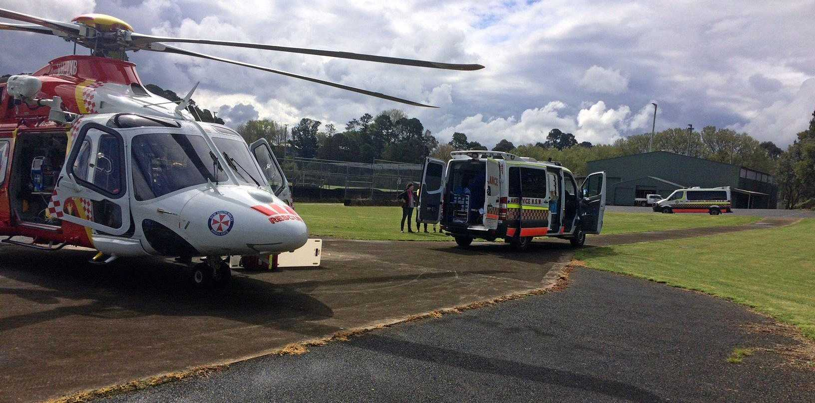 A 13-year-old girl has been transported to hospital suffering a serious head injury after falling from her horse.