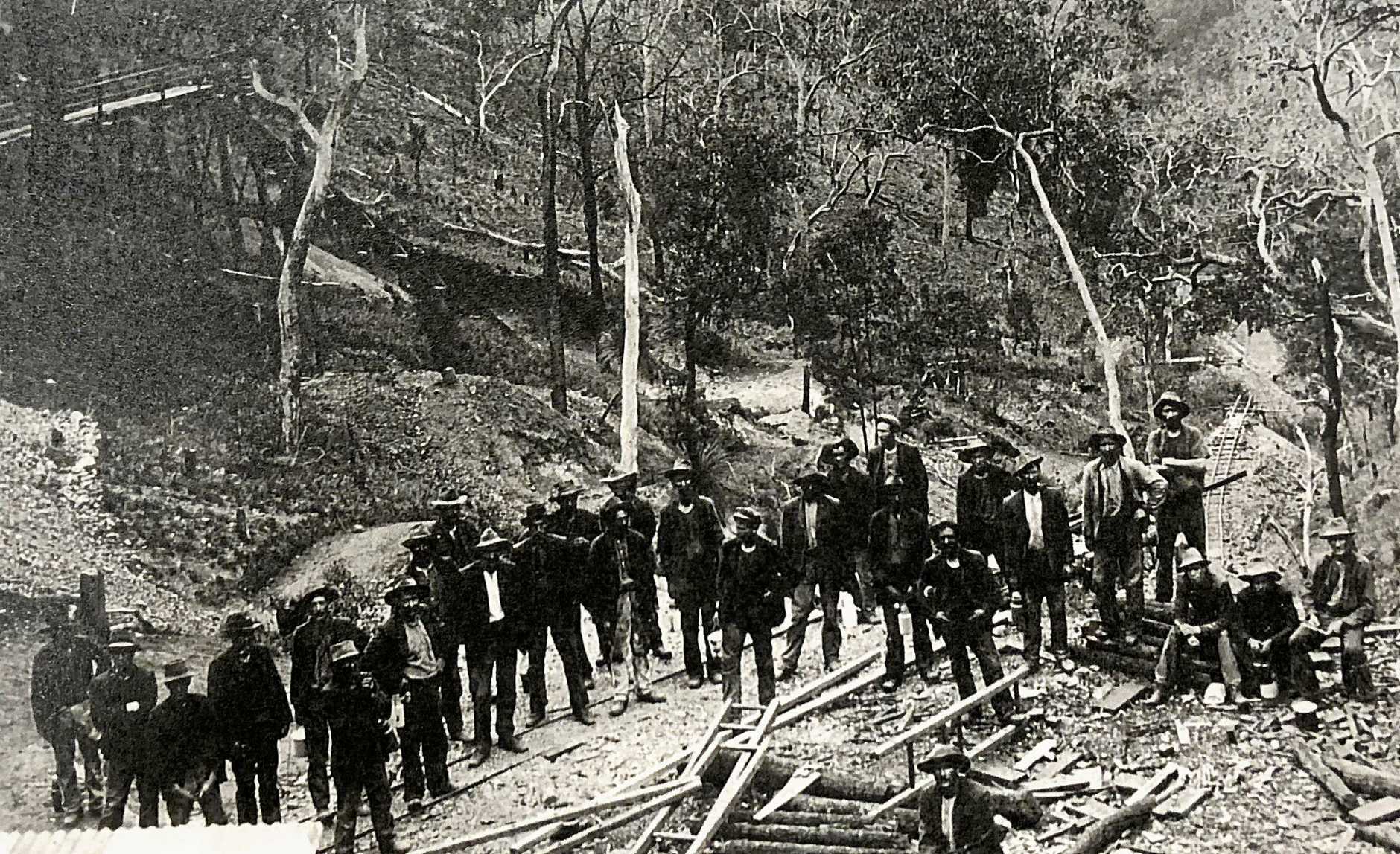 Miners at Cangai  in 1908