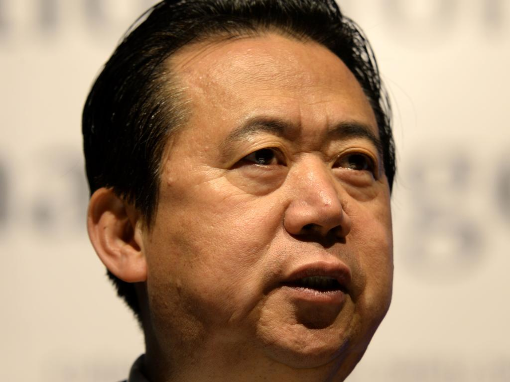 Meng Hongwei was named president of Interpol in 2016. Picture: AFP