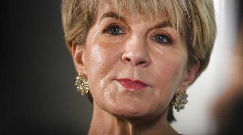 Former Foreign Minister Julie Bishop. Pic: AAP