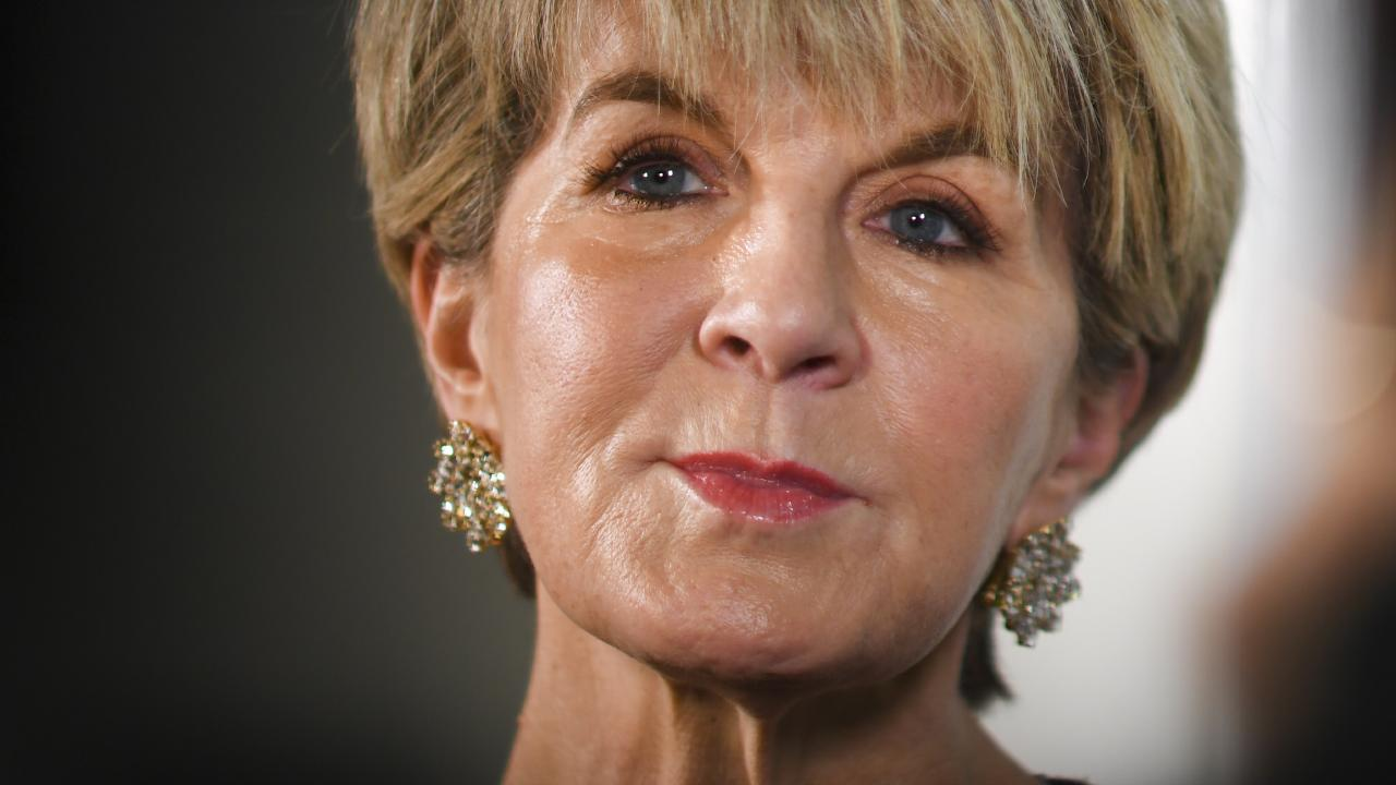 Former Foreign Minister Julie Bishop. Pic: AAP