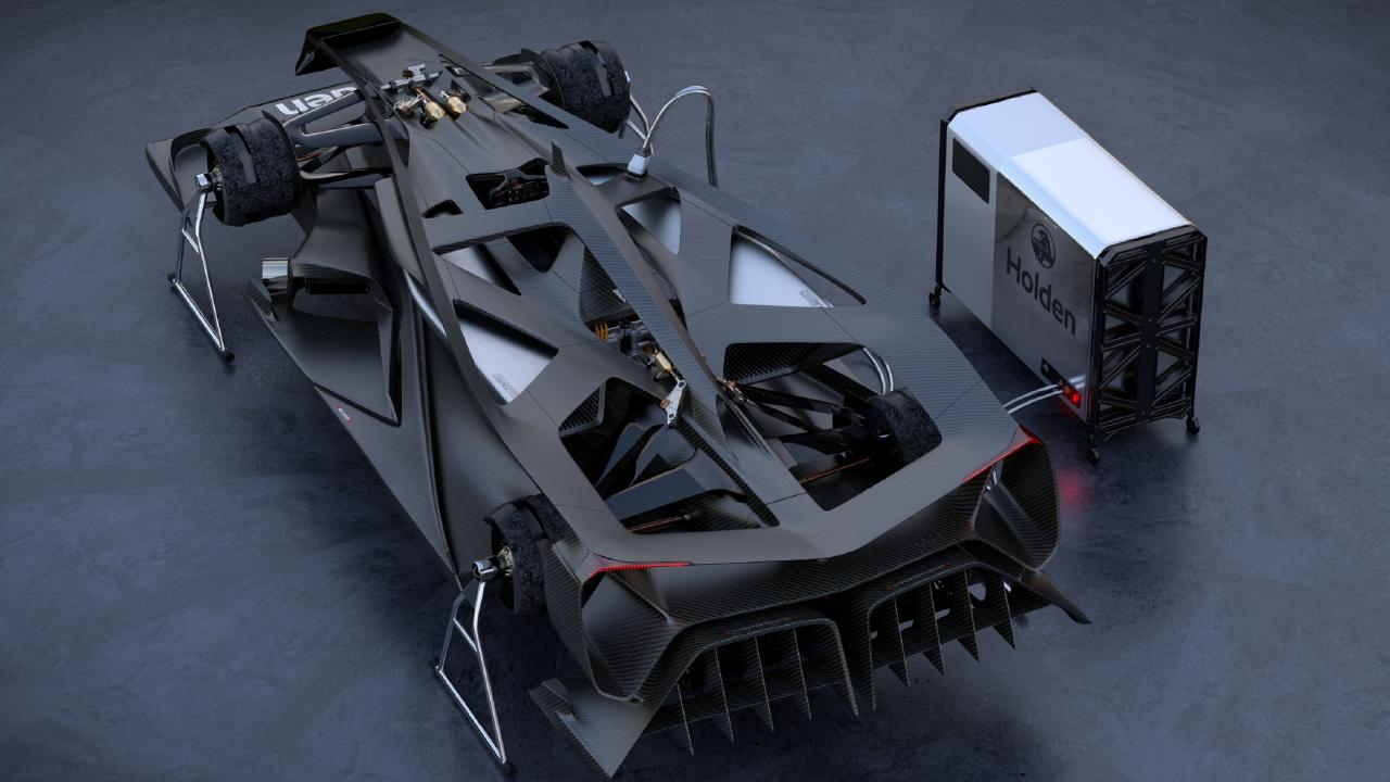 A carbonfibre composite chassis is not only lightweight but extremely strong.