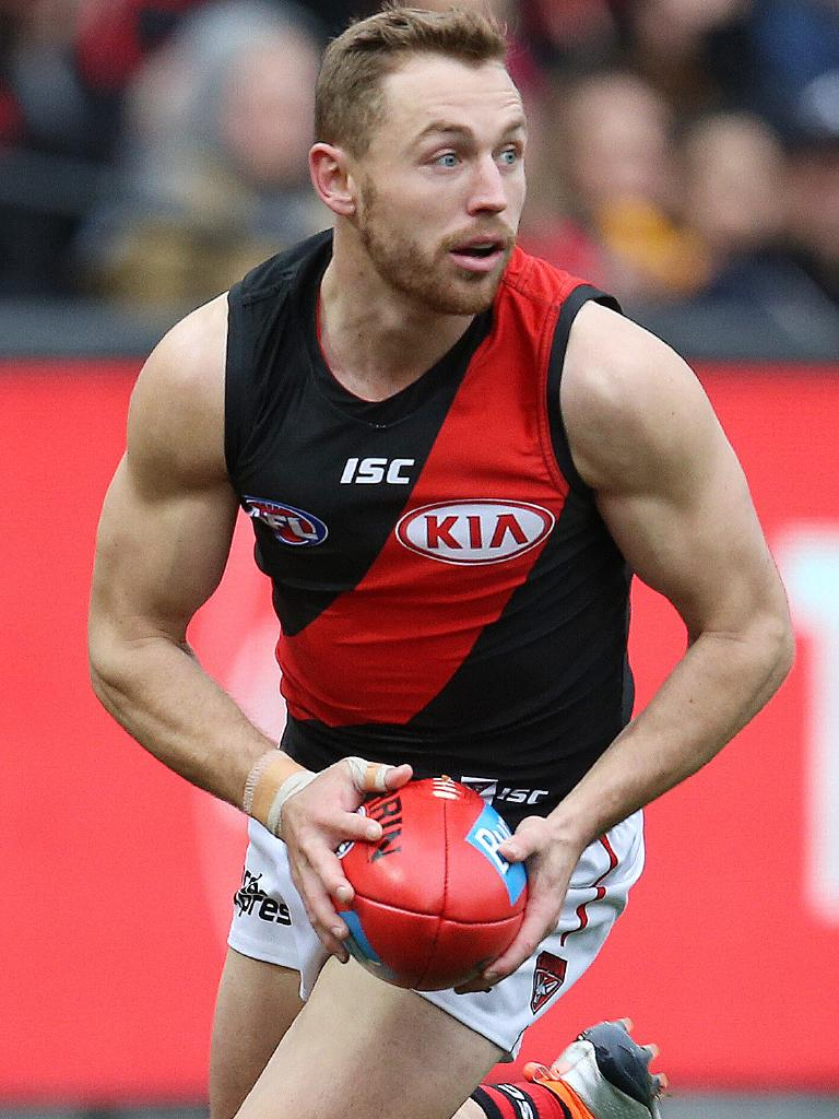 Devon Smith led the AFL for pressure points in 2018. Picture: Michael Klein