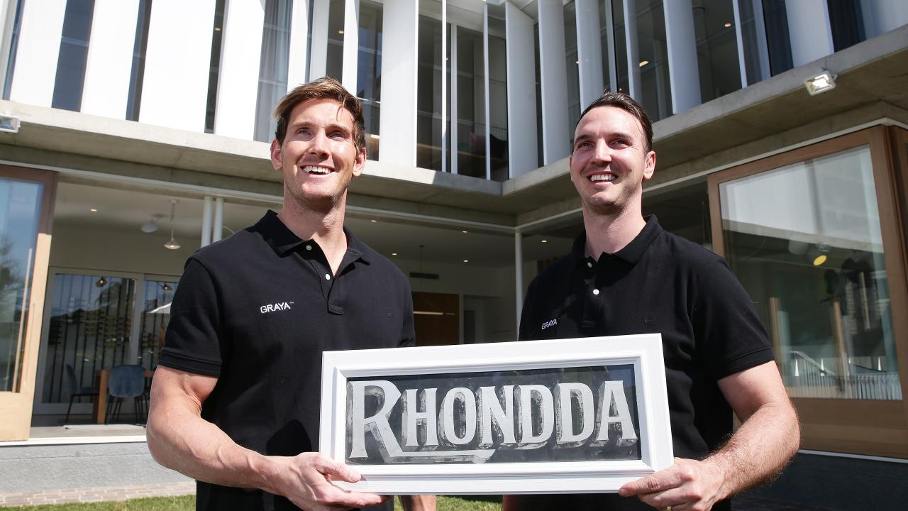 Andrew and Rob Gray at 29 Rockbourne Tce, Paddington, which has just sold for $3m. Image: AAP/Claudia Baxter.