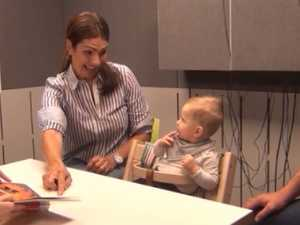 Moment little Amelie hears Mum's voice for first time