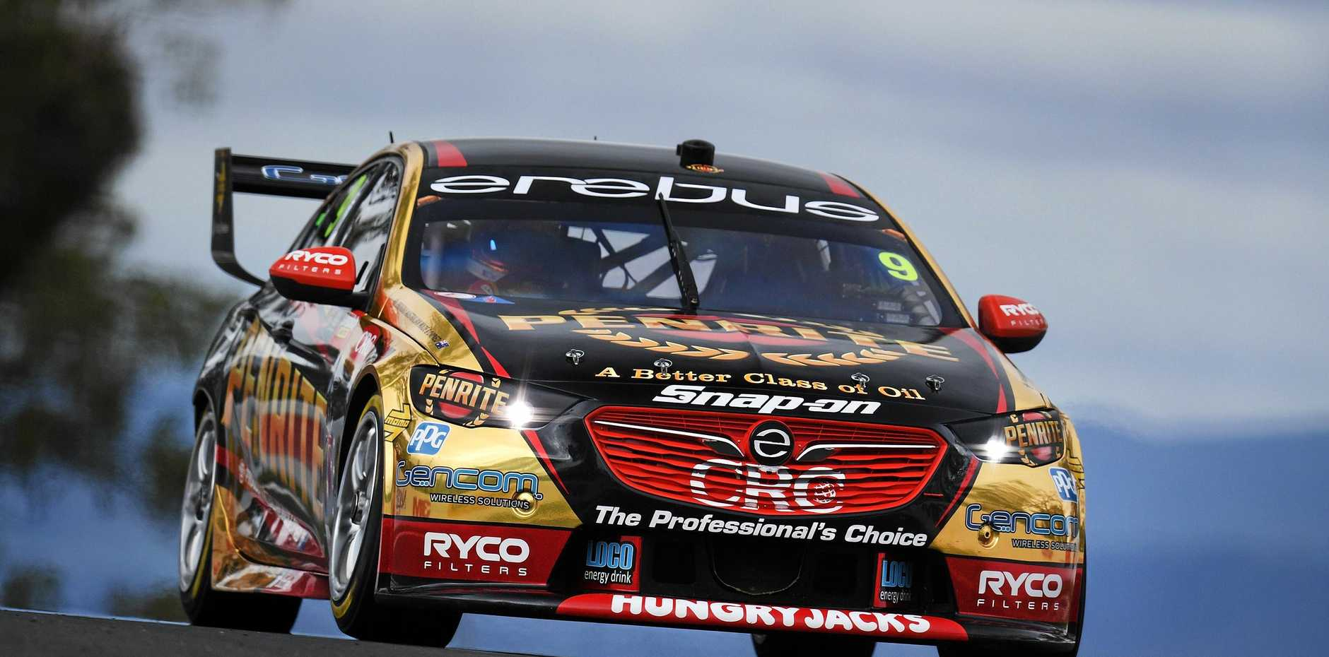 David Reynolds pushes hard in his Erebus Penrite Racing Holden Commodore ZB during qualifying for the Bathurst 1000 on Saturday morning. Picture: Daniel Kalisz/Getty Images