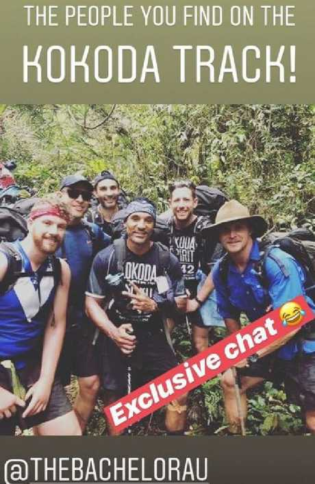 Nick Cummins photographed while on the Kokoda Trrack as the furore over the Bachelor finale continues. Picture: Instagram/@zahrasquest