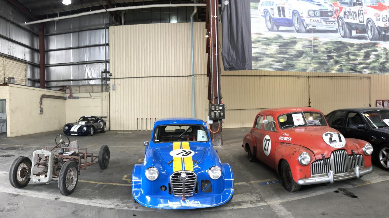A collection of Peter Brock race cars, from his earliest to his latest machines, goes under the hammer in Bathurst on Saturday night. Picture: Joshua Dowling
