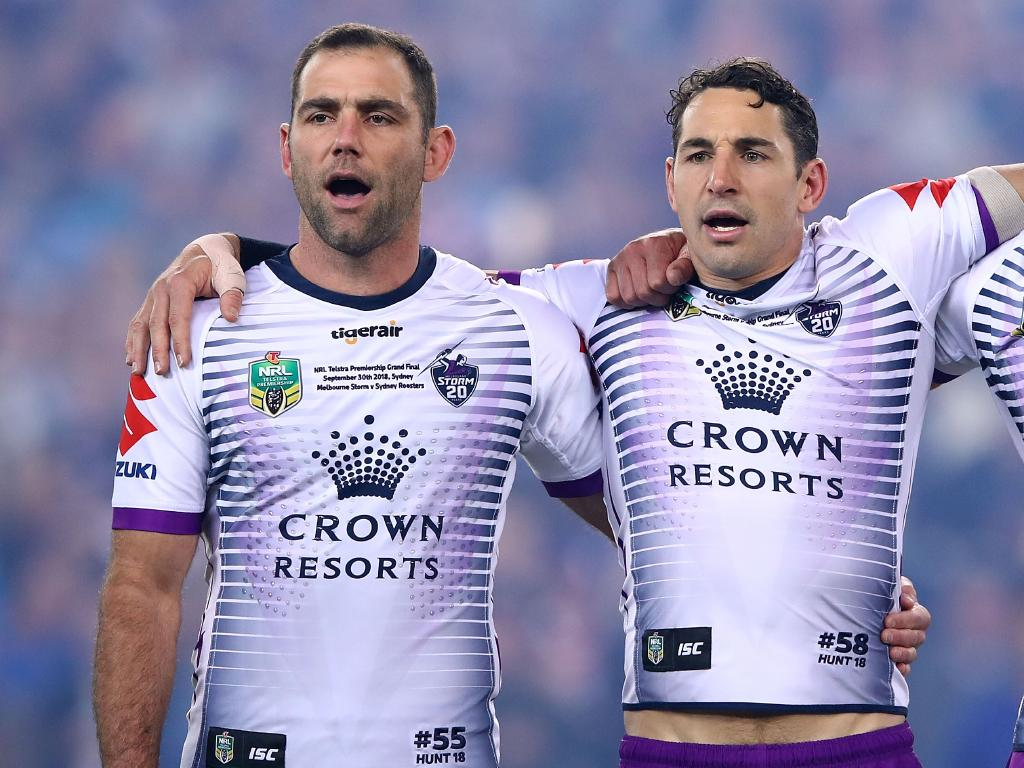 Cameron Smith doesn't have a contract and Billy Slater has retired, the last two of the Melbourne Big Four. Picture: Mark Kolbe/Getty