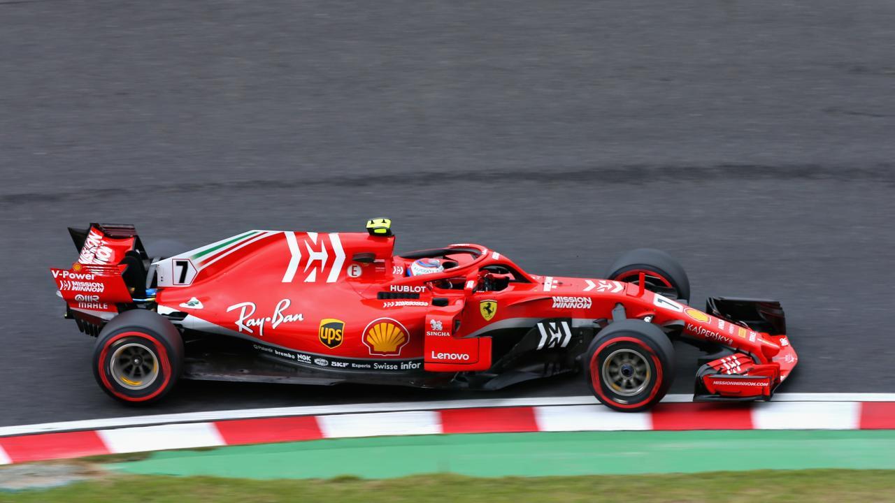 Ferrari's Sebastian Vettel was 0.116 seconds slower than Hamilton, followed by teammate Kimi Raikkonen a further four tenths back. Picture: Charles Coates/Getty