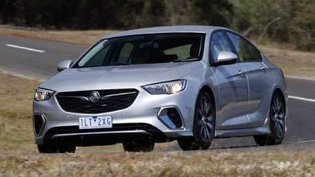 The imported Holden Commodore, pictured, is outselling the Ford Mondeo but is nowhere near as popular as the homegrown Commodore. Picture: Supplied.