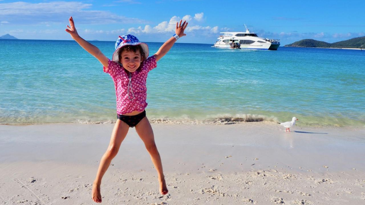 Best day ever? Whitsundays scored top marks from Robin Esrock's daughter. Picture: Esrocking the World Media
