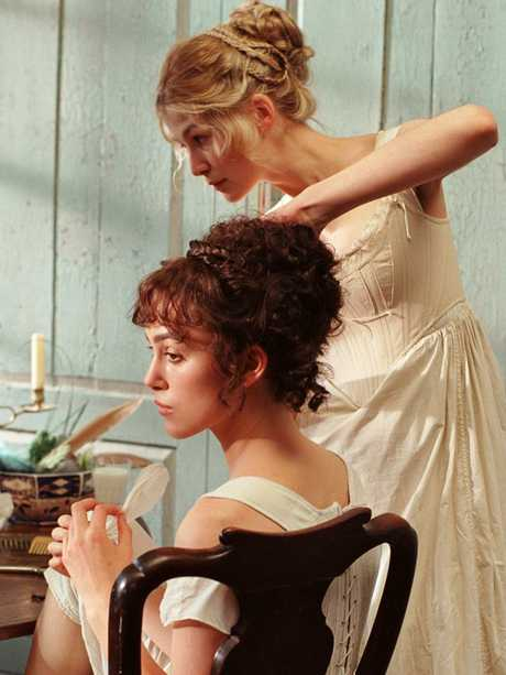 Knightley and Rosamund Pike in 'Pride and Prejudice.' Picture: Supplied